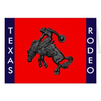 Texas Bucking Horse Cowboy .jpg Card