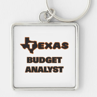 Texas Budget Analyst Silver-Colored Square Key Ring