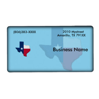 Texas Business Label Shipping Label