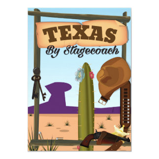 Texas By Stagecoach. Card