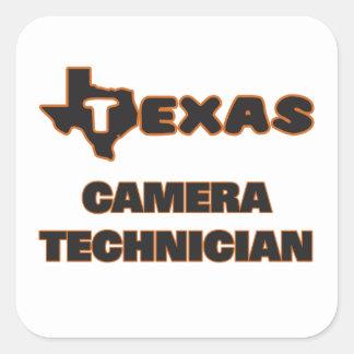 Texas Camera Technician Square Sticker
