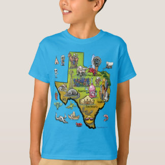 Texas Cartoon Map T-Shirt