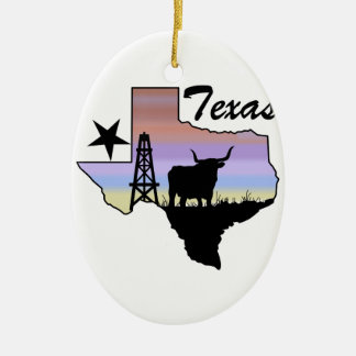 Texas Ceramic Ornament