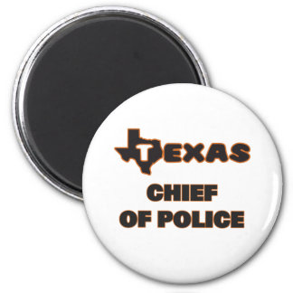 Texas Chief Of Police 2 Inch Round Magnet