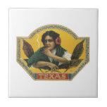 Texas Cigar Label Tile