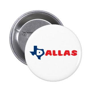 Texas Cites Dallas Pinback Button