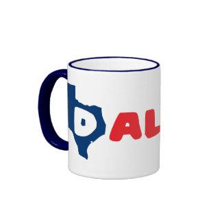 Texas Cites Dallas Ringer Coffee Mug