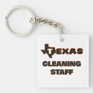 Texas Cleaning Staff Single-Sided Square Acrylic Keychain