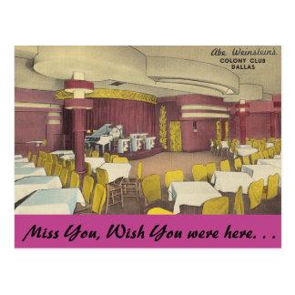 Texas, Colony Club, Dallas Postcard