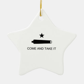 Texas, Come and Take It Ceramic Star Decoration