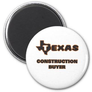 Texas Construction Buyer 6 Cm Round Magnet