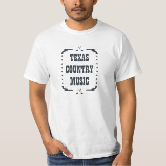 Texas Country Music Black Color T-Shirt