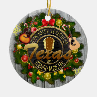 Texas Country Music Fan Christmas Ornament