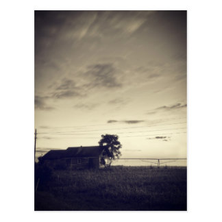Texas Countryside Twilight Postcard