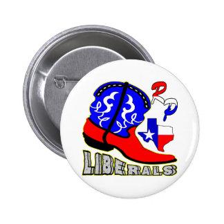 Texas Cowboy Boot Crushing Liberals 6 Cm Round Badge