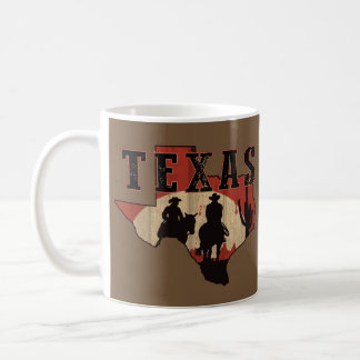 Texas Cowboy Ride Coffee Mug - Brown