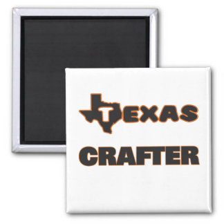 Texas Crafter Square Magnet