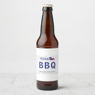 Texas Customized Plates Beer Bottle Label