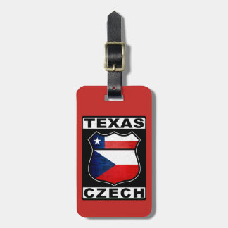 Texas Czech American Luggage Tag Template