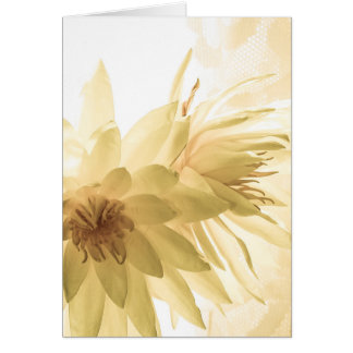 Texas Dawn Water Lilies in Sepia Greeting Card