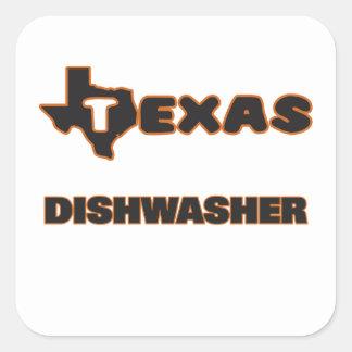 Texas Dishwasher Square Sticker