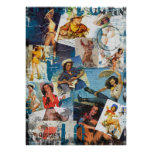 Texas Eclectic : Vintage Cowgirl Collection No. 2 Poster