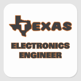 Texas Electronics Engineer Square Sticker