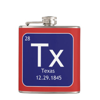 Texas Element Vinyl Wrapped Flask