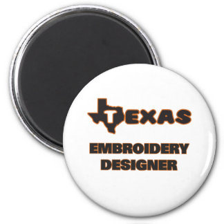 Texas Embroidery Designer 6 Cm Round Magnet