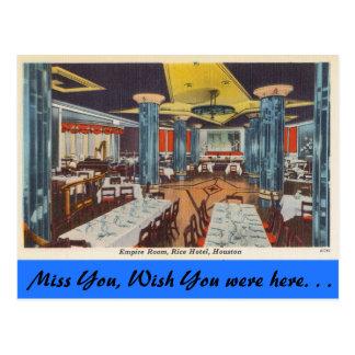 Texas, Empire Room, Rice Hotel, Houston Postcard