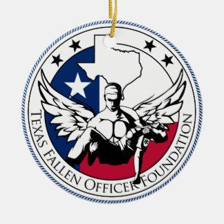 Texas Fallen Officer Foundation Ceramic Ornament