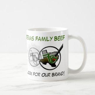 Texas Family Beef Coffee Cup Basic White Mug