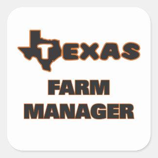 Texas Farm Manager Square Sticker