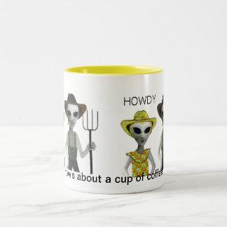 Texas Farmer Coffee Two-Tone Coffee Mug