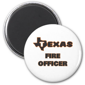 Texas Fire Officer 2 Inch Round Magnet