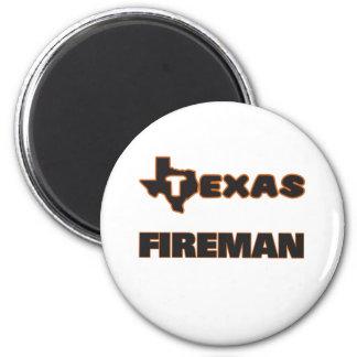 Texas Fireman 2 Inch Round Magnet