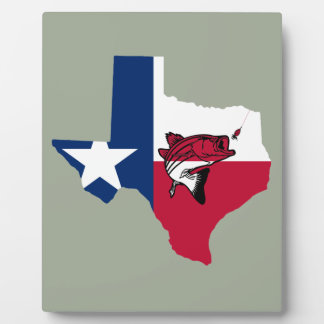 Texas Fishing Plaque