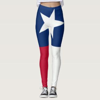 Texas Flag 90 degree full bleed center Leggings