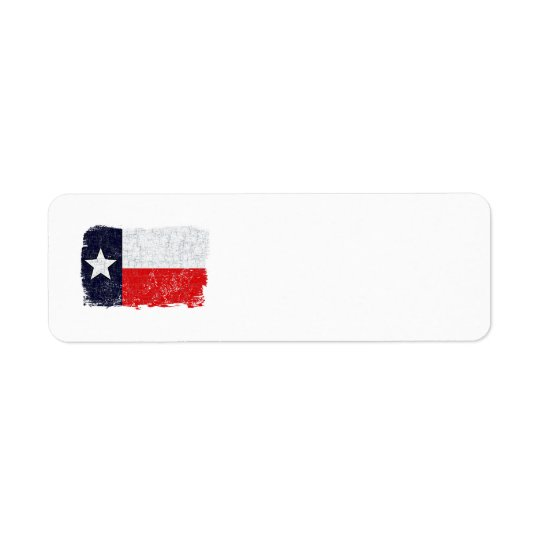 TEXAS FLAG AGED Address Label