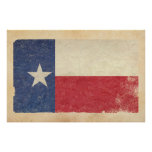 Texas Flag Aged Poster