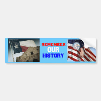 texas flag and alamo, FlagEagleFoldedHands, REM... Bumper Sticker