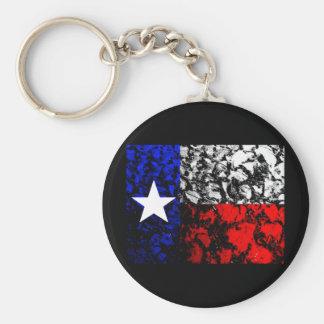Texas Flag Basic Round Button Key Ring