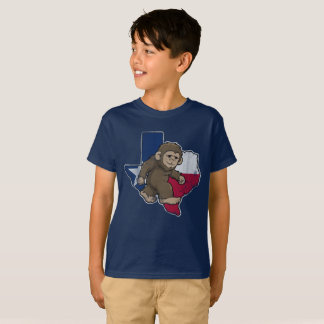 Texas Flag Bigfoot Sasquatch T-Shirt