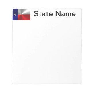 Texas Flag Brushed Metal Notepad
