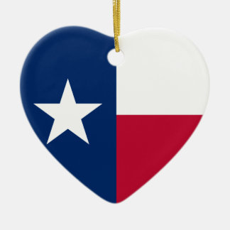 Texas Flag Ceramic Heart Decoration