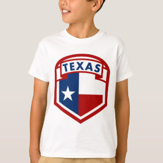 Texas Flag Coat of Arms Style T-Shirt