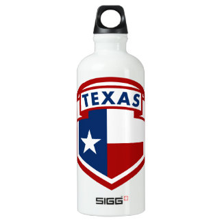 Texas Flag Coat of Arms Style Water Bottle