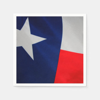Texas Flag Cocktail Napkins Disposable Serviette