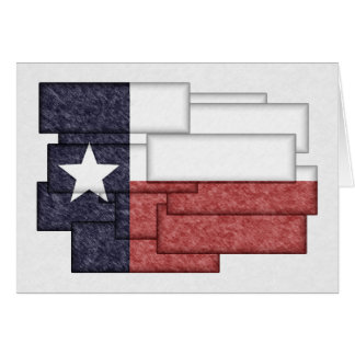 TEXAS FLAG COLLAGE GREETING CARD
