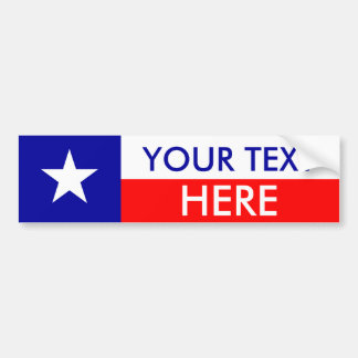 Texas Flag: Create Your Own Bumper Stickers